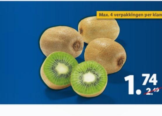 1 kg Groene Kiwi's €1,74 @ Lidl (App)