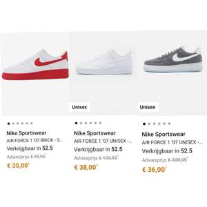 Diverse Nike Air Force 1 - grote maten o.a. 52,5