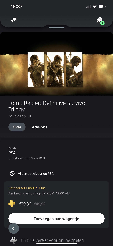 Tomb Raider Definitive Survivor Trilogy PS4/XB