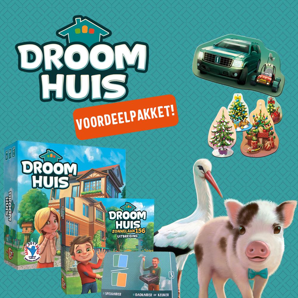 50% korting bordspel Droomhuis voordeelpakket voor €28,20 @ White Goblin Games