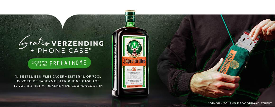 Nu bij Drankdozijn 1 fles 0,7L of 1L Jägermeister + gratis telefoonhoesje inclusief gratis verzending