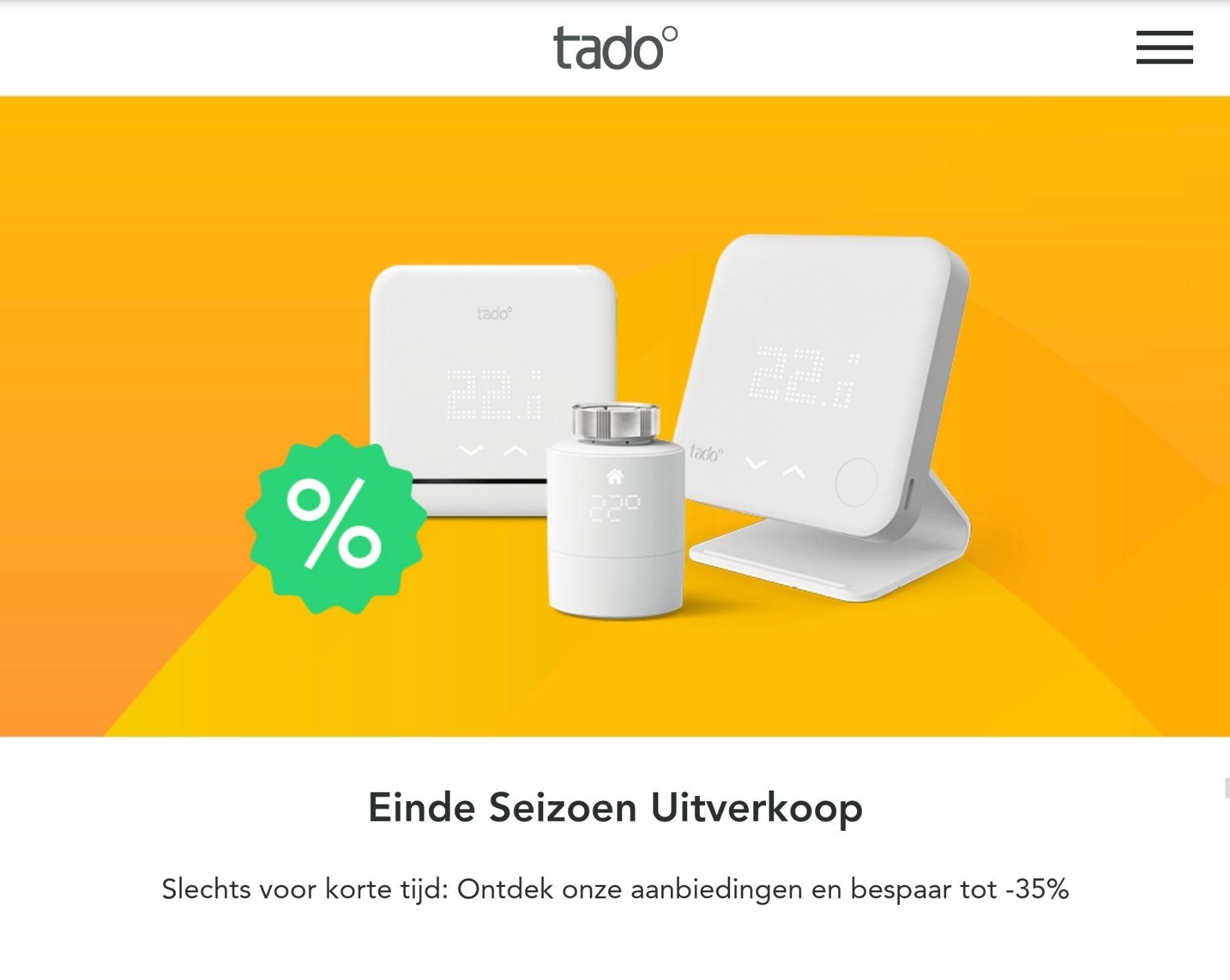 Tot 35% end of season sale in de Tado webshop