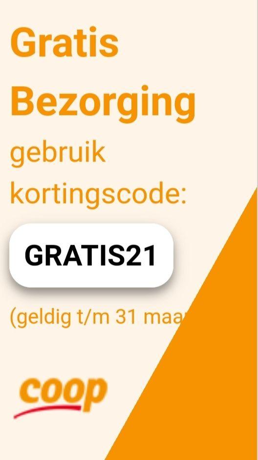 Gratis bezorging @ Coöp met code GRATIS21 (Besparing €5)