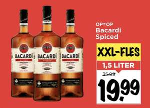 Bacardi Spiced 1,5 Liter @ Vomar