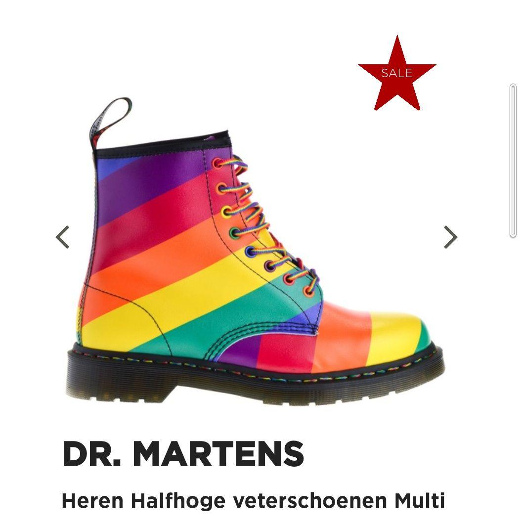 Maat 44 rainbow Dr Martens