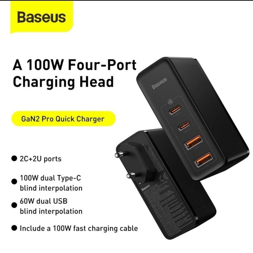 Baseus GaN2 Pro 100W USB PD 4-Port Wall Charger