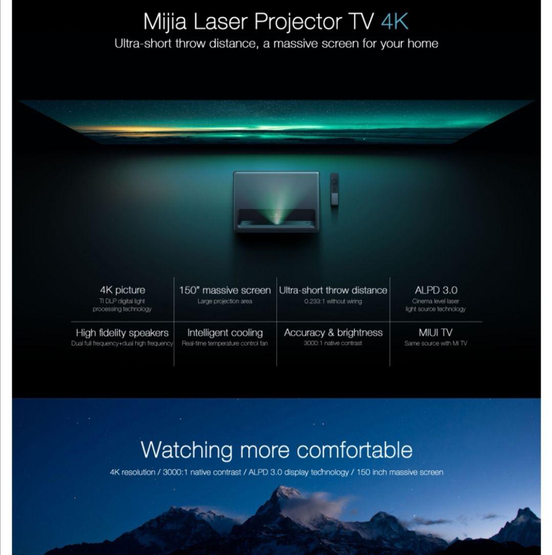 Xiaomi Mi ultra short trow 4K UHD Laser Projector 150in 16GB eMMC 5G 1300lm