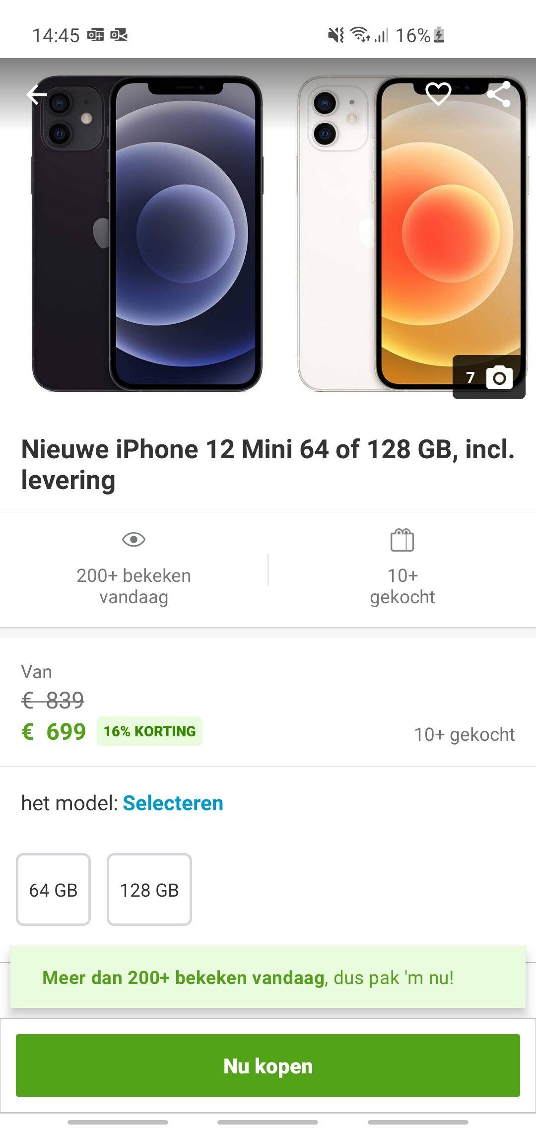 IPhone 12 mini 64gb/128gb via Groupon