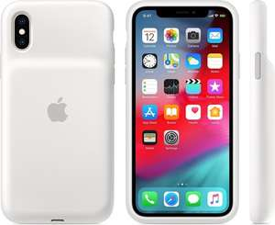 Apple Smart Battery Case iPhone Xs/iPhone Xs Max hoesje – Wit/Zwart/Pink Sand