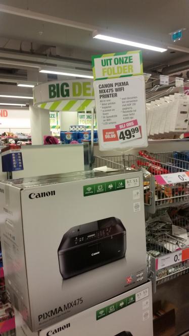 Canon PIXMA MX475 All-in-One printer €49,99 @ Bigbazar