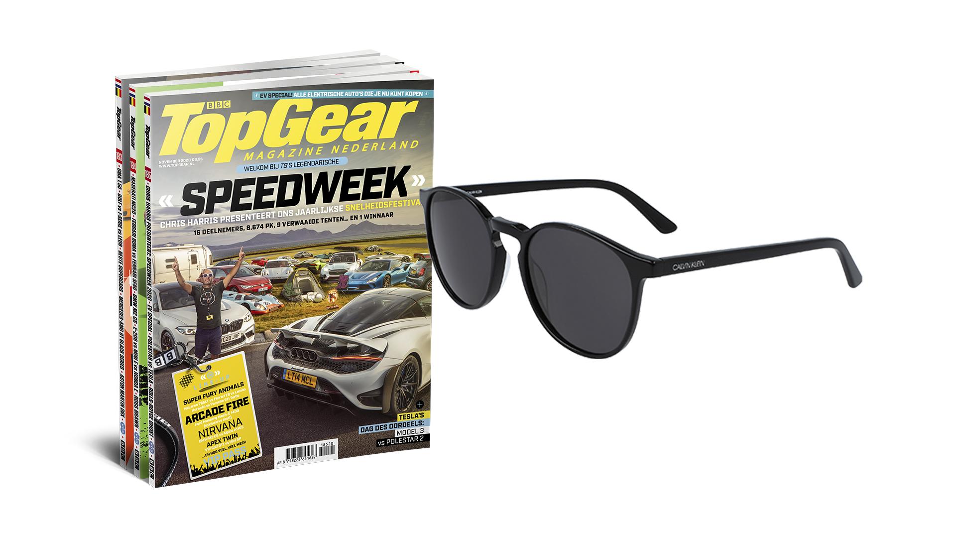 1 jaar TopGear magazine + Calvin Klein zonnebril voor €89,95 @ TopGear