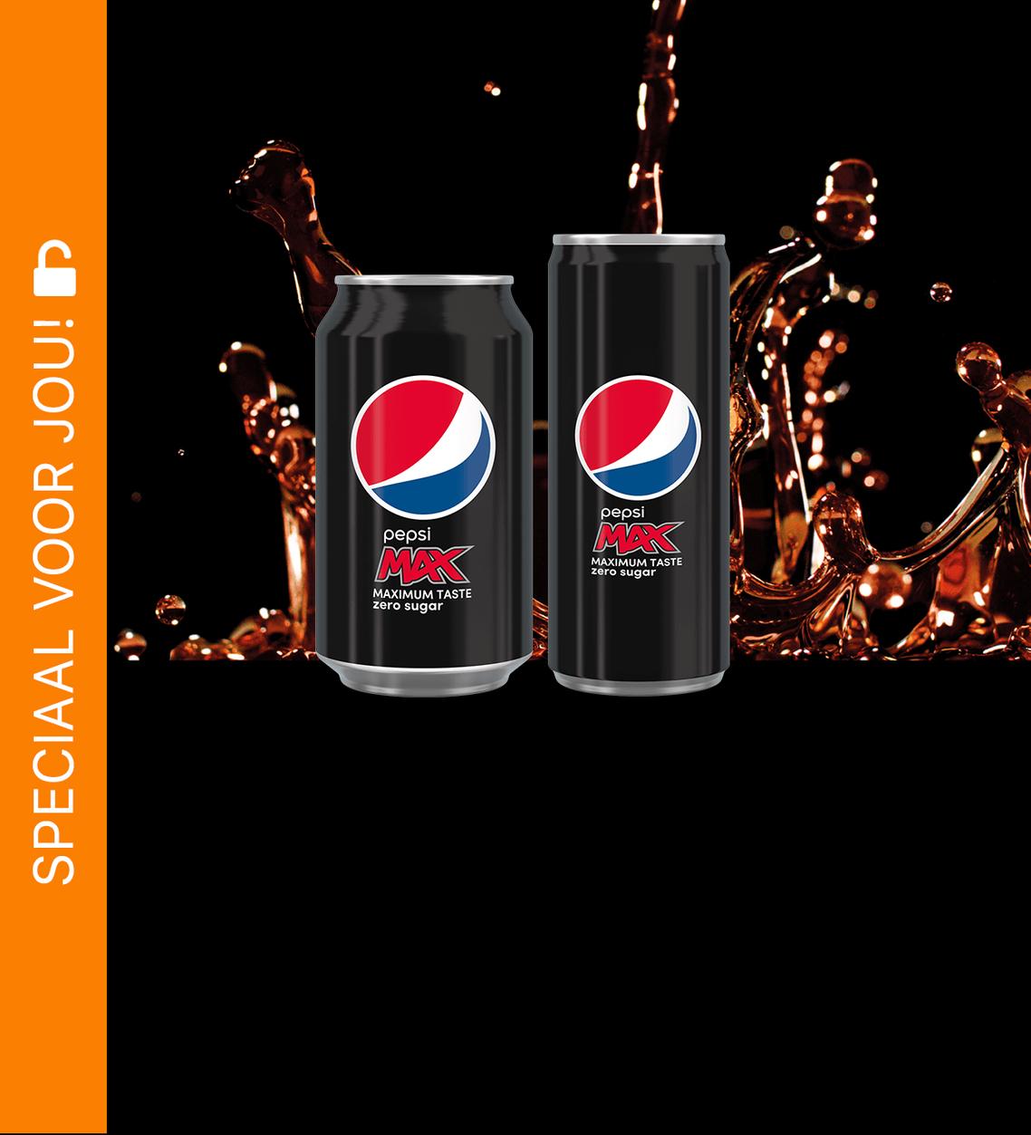 (Persoonlijk)Pepsi MAX 25 of 33 cl blik: van €0,49 - €0,59* voor €0,-