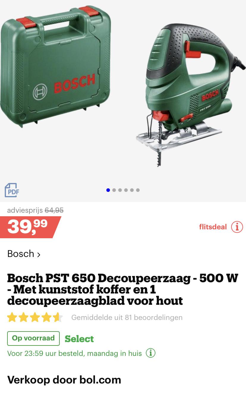 Bosch PST 650 Decoupeerzaag met koffer en 1 houtzaagblad