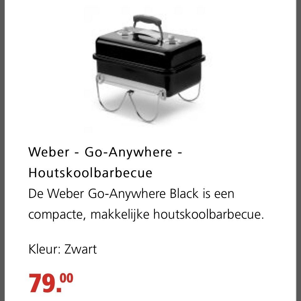Weber go anywhere houtskool