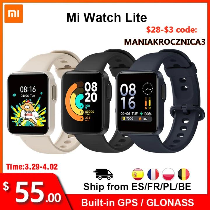Xiaomi Mi Watch Lite met GPS ondersteuning