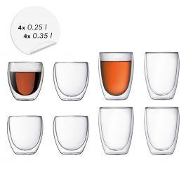 8-delige set Bodum Pavina glazen (4x0,25L + 4x0,35L) voor €70,85 met code @ Bodum