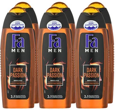 6-Pack FA Men Dark Passion 2-In-1 Douchegel