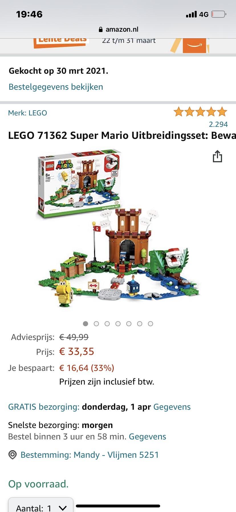 LEGO 71362 Super Mario Uitbreidingsset: Bewaakte vesting