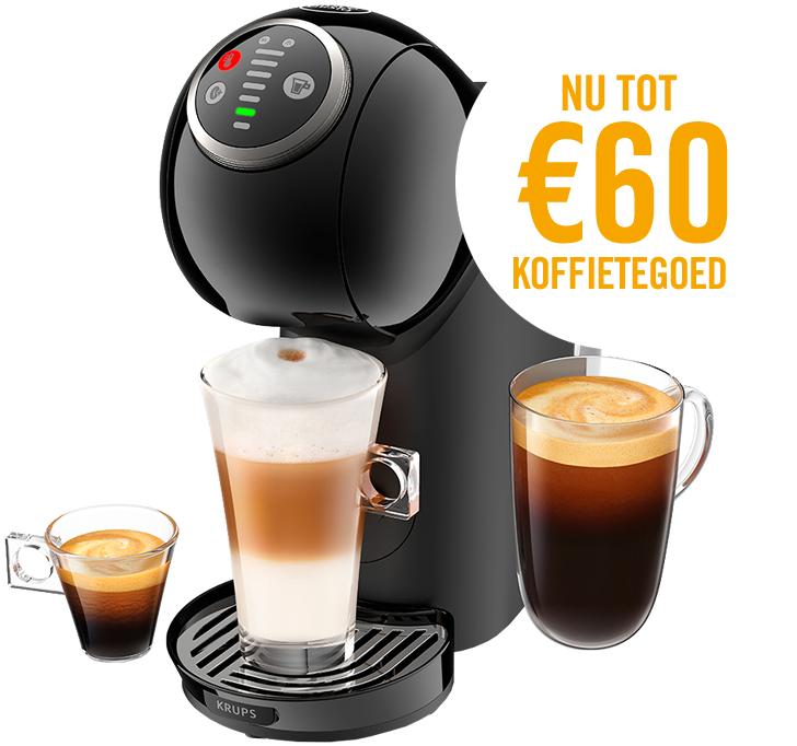 Max. 60 eu koffietegoed bij DG apparaat!