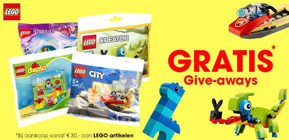 Gratis zakje LEGO bij aankoop vanaf €30 aan LEGO artikelen