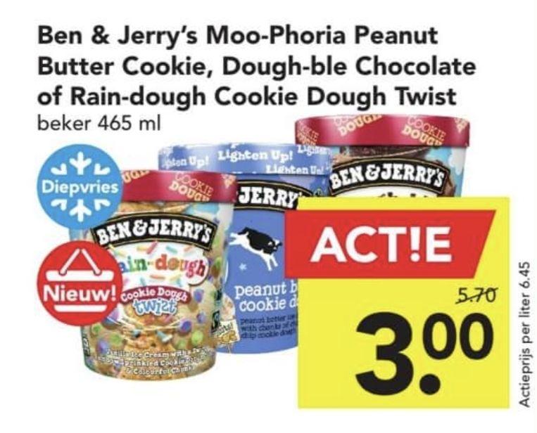 Deen - geselecteerde smaken Ben & Jerry's €3