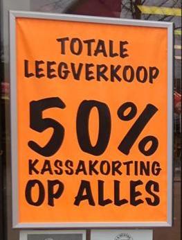 Vijftig procent korting op alles bij BigBazar Arnhem centrum