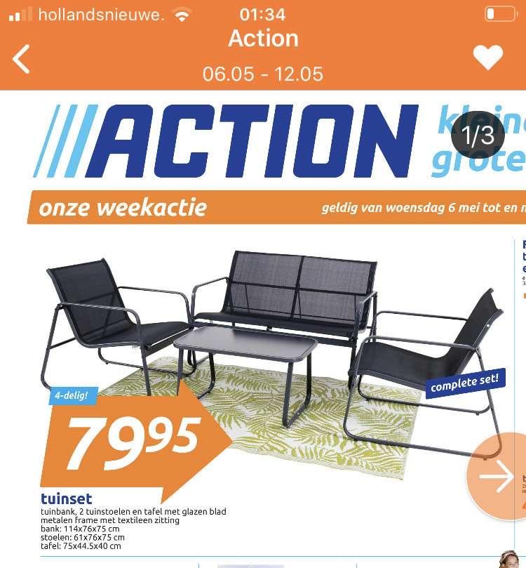 4-delige tuinset in de weekactie @ Action
