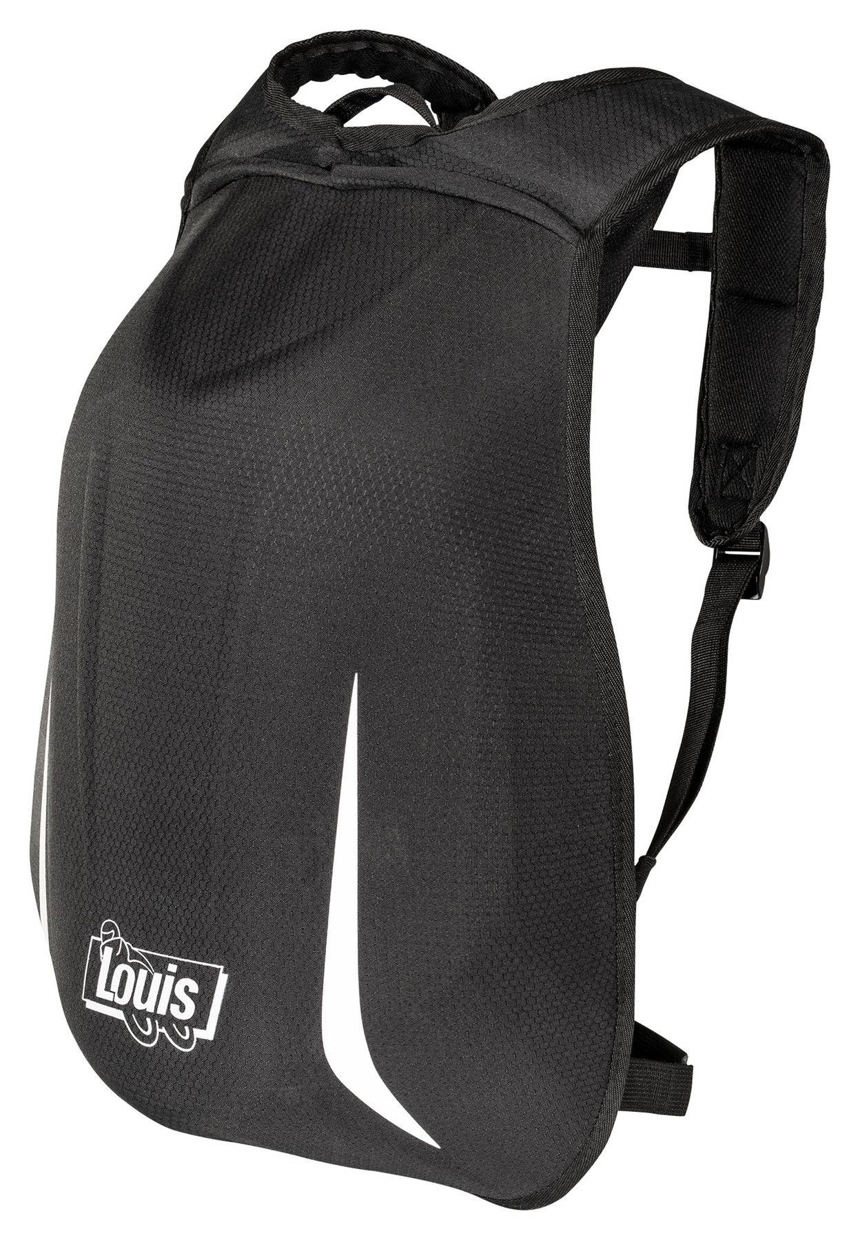Louis hardschalen rugzak zwart (24 liter)