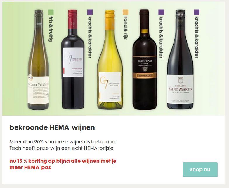 Wijn 15% korting [met klantenpas] - veel wijnen 'bekroond'