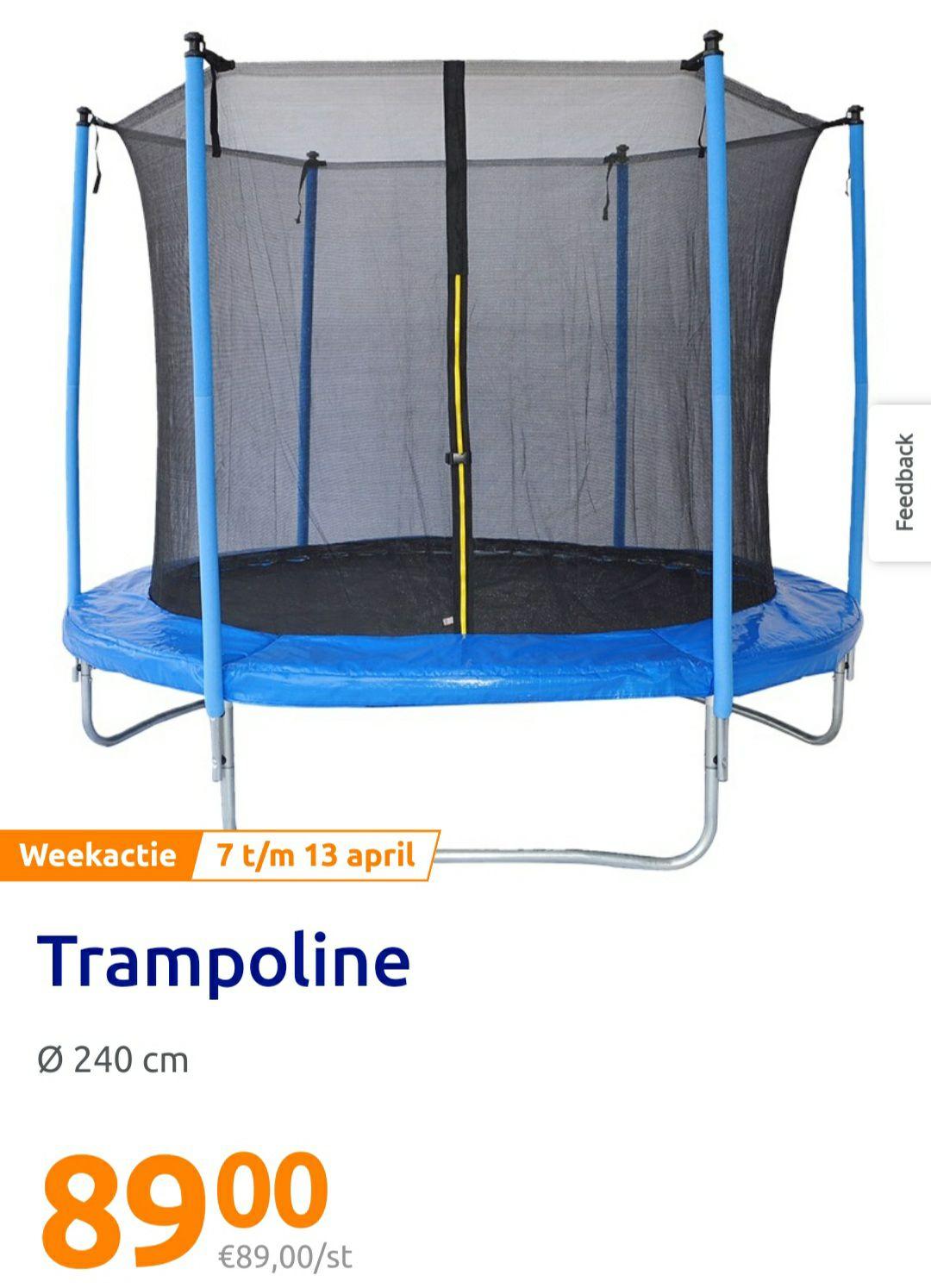 Weekaanbieding action Trampoline 240 cm