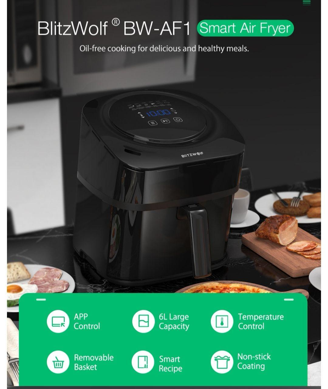 BlitzWolf®BW-AF1 Smart Air Fryer with APP Control 6L