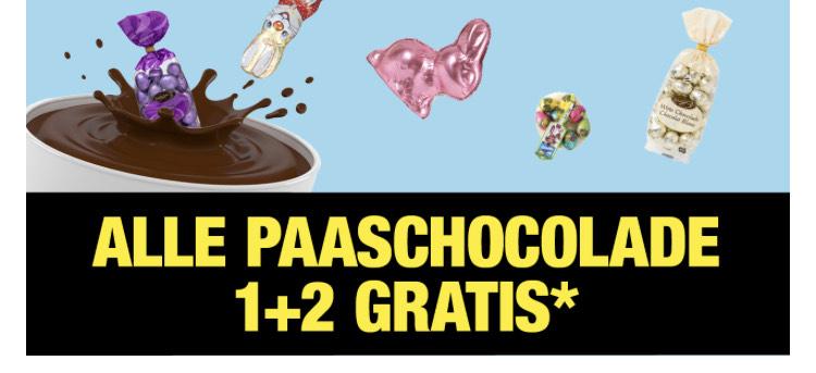 Alle paaschocolade 1+2 gratis [big bazar]