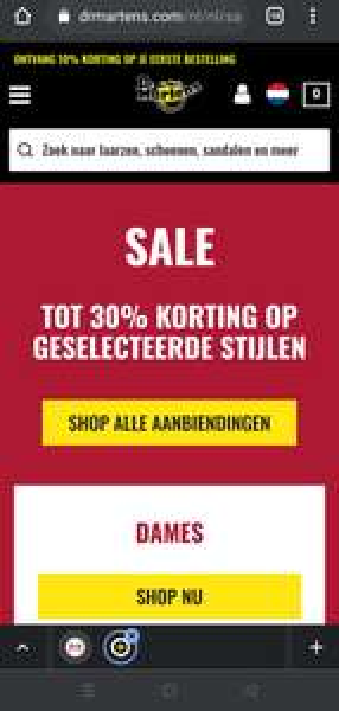 Veel sale items toegevoegd Dr Martens