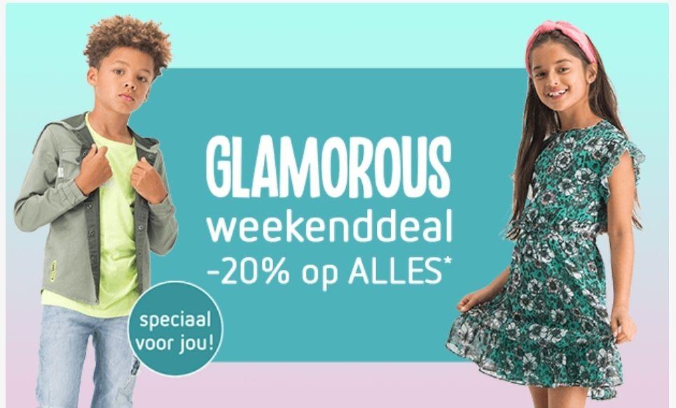 20% korting op veel merken bij kleertjes.com