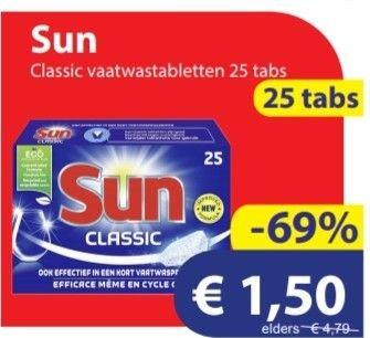 Die grenze week aanbiedingen o.a. 6 cent per afwasbeurt, goedkoper dan huismerken!