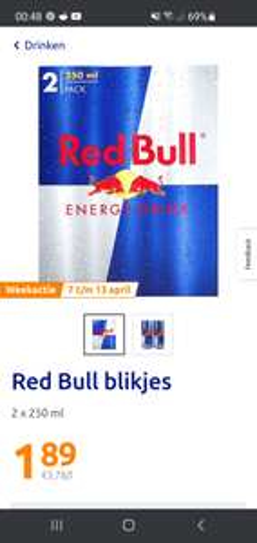 Red Bull duo pack bij Action