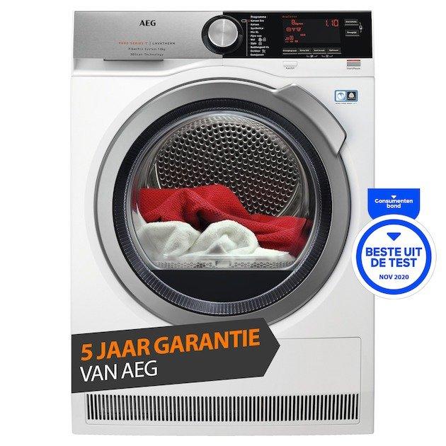 AEG T9DEN87CC FiberPro warmtepompdroger (8kg/A+++/5 jaar garantie) €799,20 @Expert