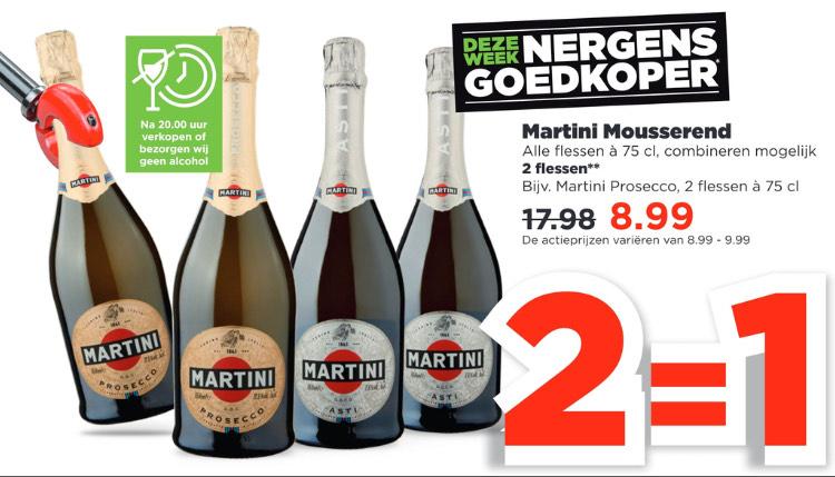 Bij PLUS: Martini Italiaanse mousserende wijnen 2=1 - Inslaan voor de aankomende zomer