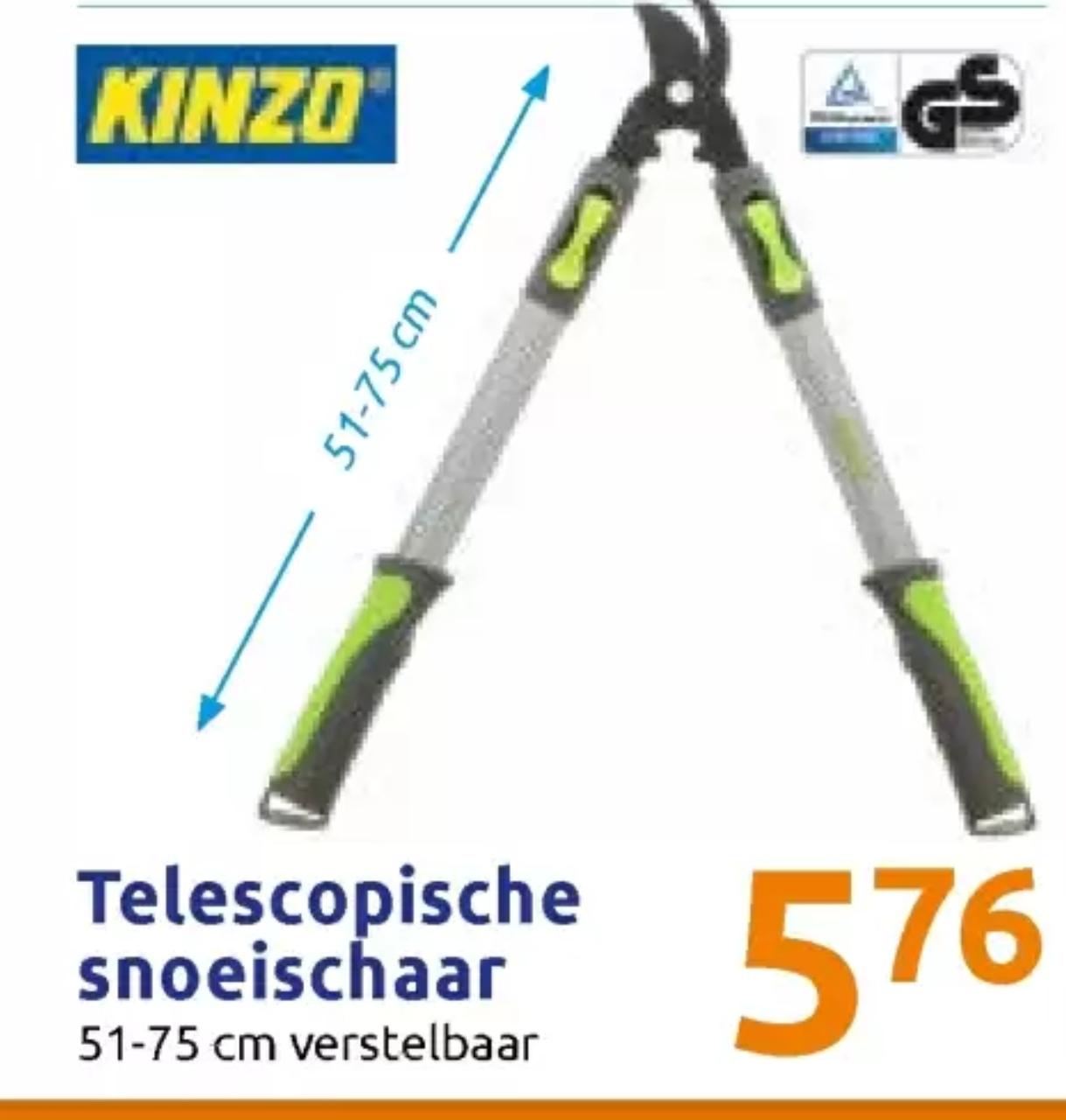 Kinzo Snoeischaar/Takkenschaar/Wegwerpschaar Telescopisch