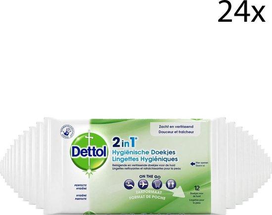 Dettol 2-in-1 hygiënische doekjes 24x pakjes