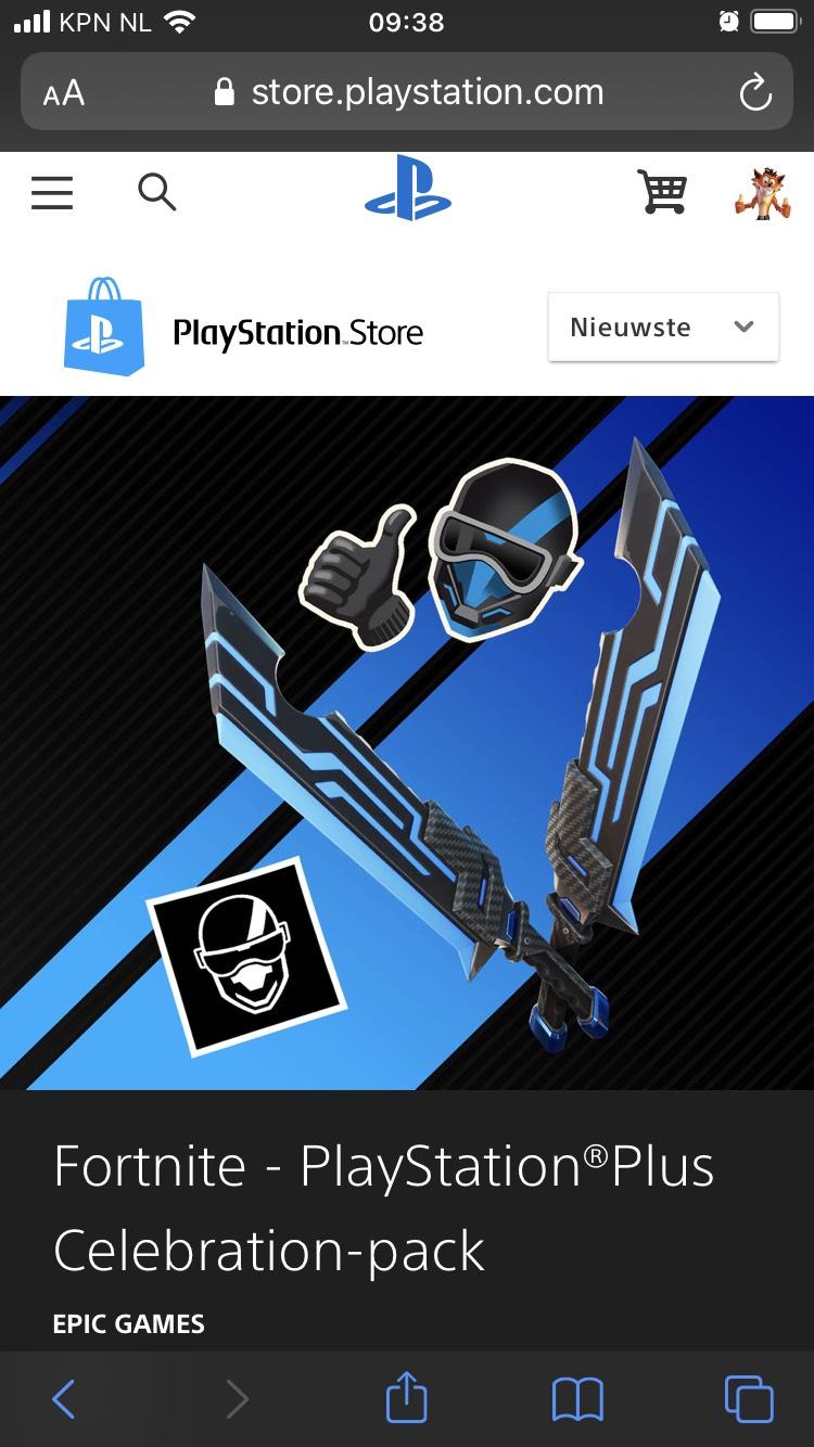 Gratis Fortnite PS Plus pakket