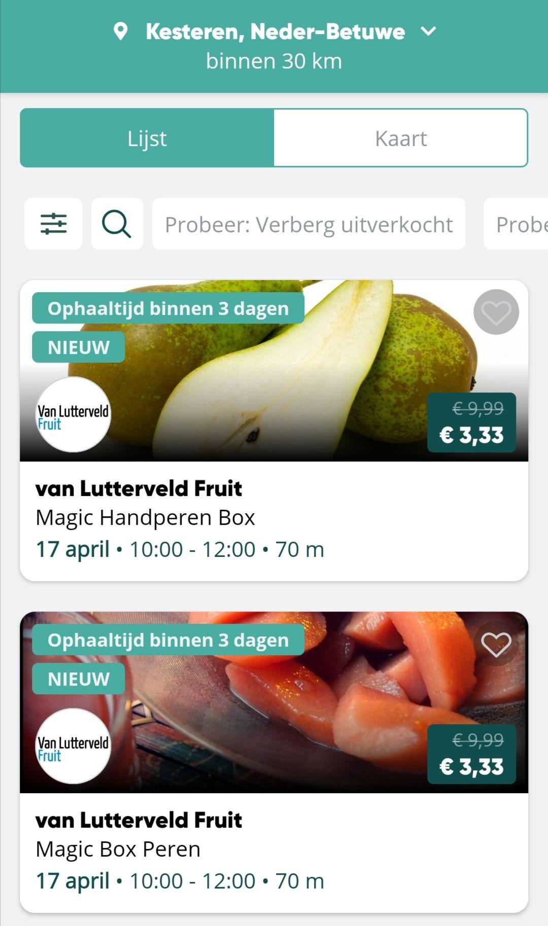 5 kilo Stoofperen of Handperen van €9,99 voor €3,33 (via TGTG) ophalen in Kesteren (geniet van de bloeiende boomgaarden)