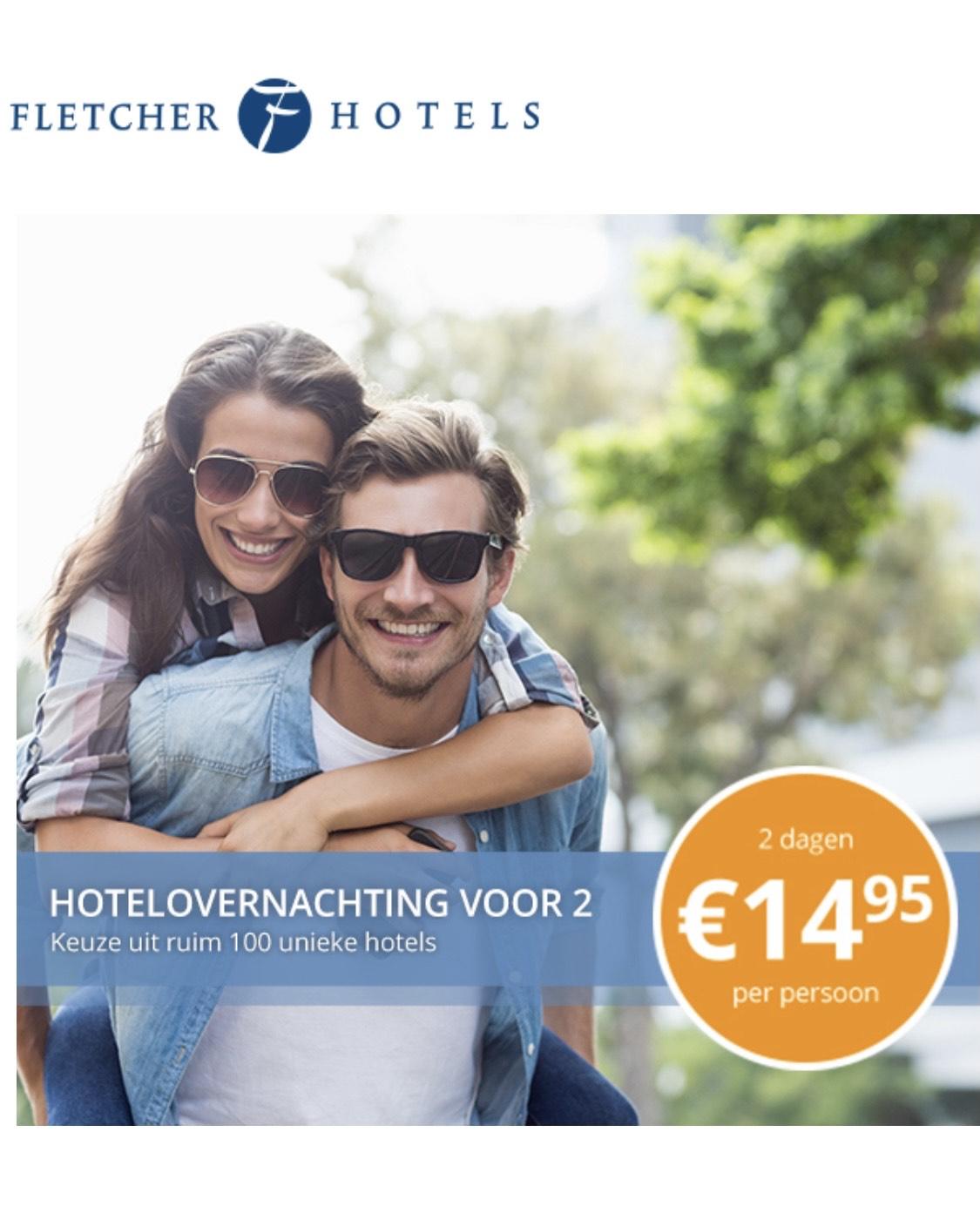 Hotelovernachting Fletcher €14,95 p.p.