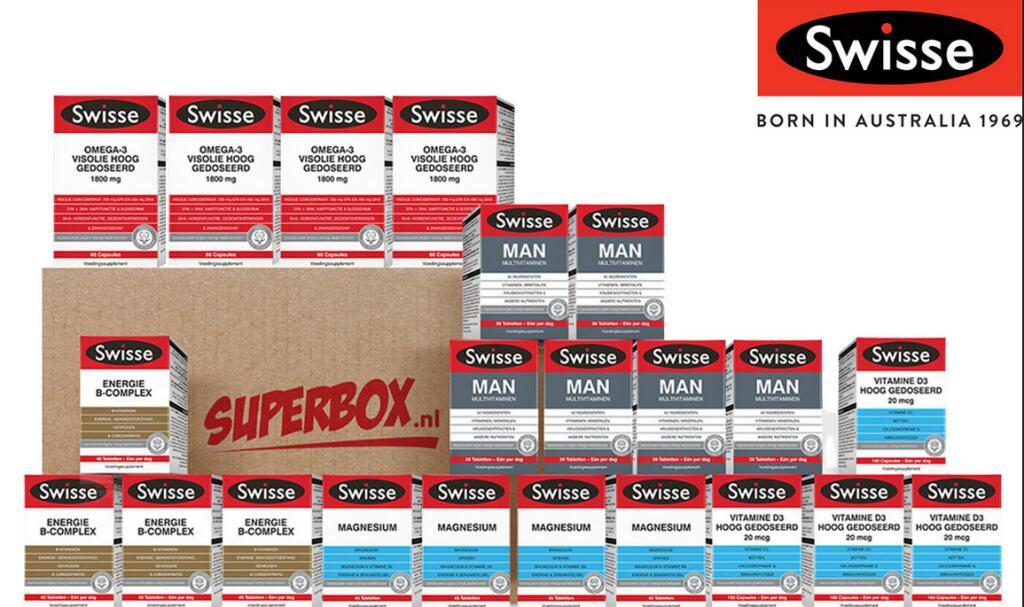 IBOOD: Swisse (australisch merk) supplementen box voor 50eur. -88%.