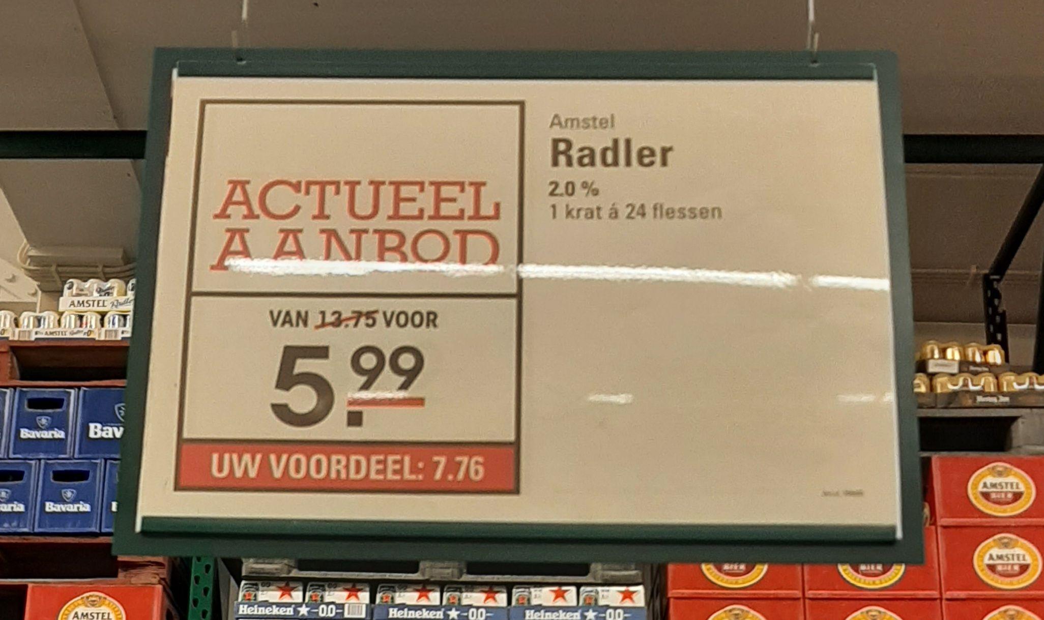 [Lokaal] Amstel Radler 2,0% Sligro Zwolle HH t/m 04-2021