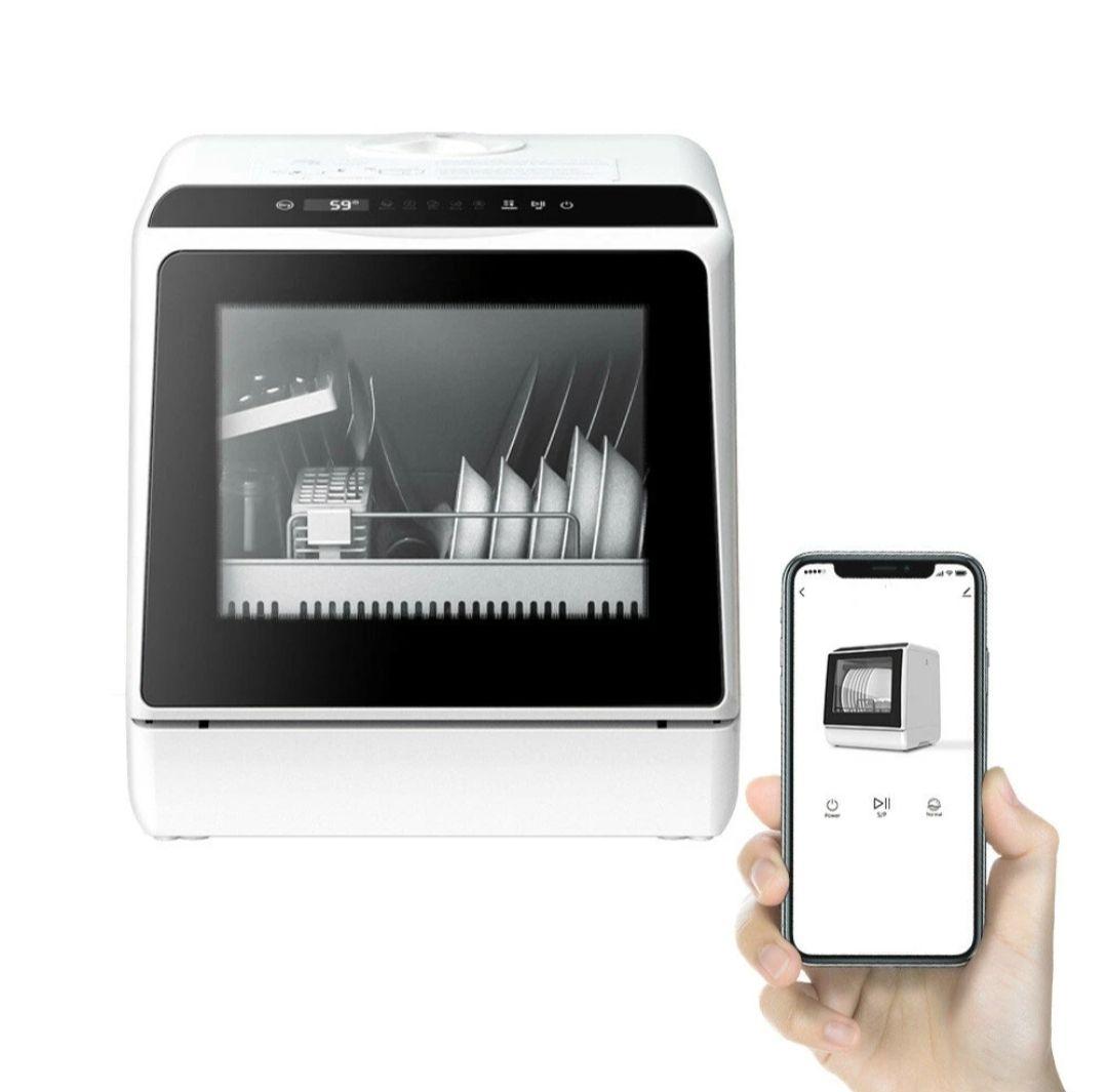 BlitzWolf®BW-CDW1 Smart Portable Countertop Dishwasher with APP Control, 4-6 Sets Big Capacity, Verzending EU.