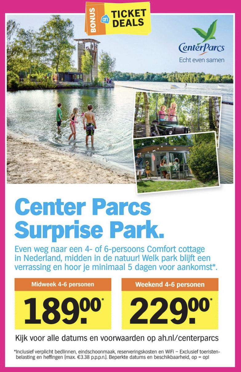 Weekend Center Parcs surprise Park 4/6p