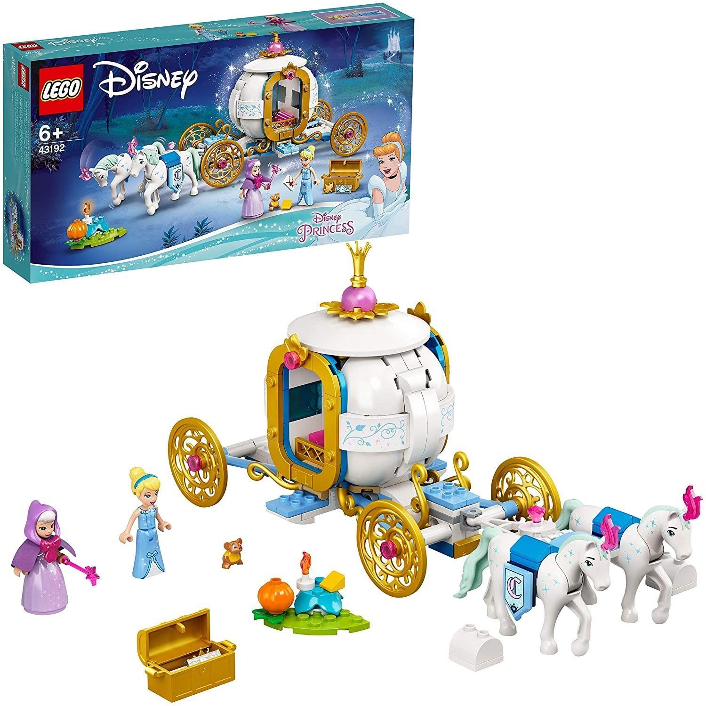 LEGO 43192 Disney Het Koninklijke Koetspeelgoed van Prinses Assepoester met 2 Minipoppetjes en Paardenfiguren