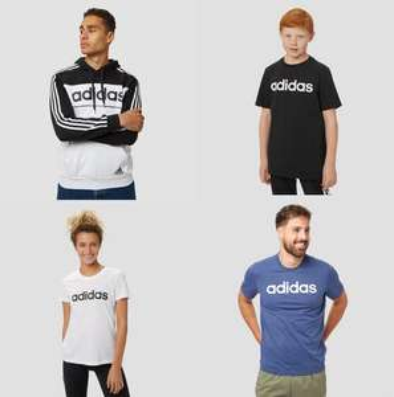Adidas kleding voor dames, heren en kids met 50% korting - v.a. €7,50 @ Aktiesport