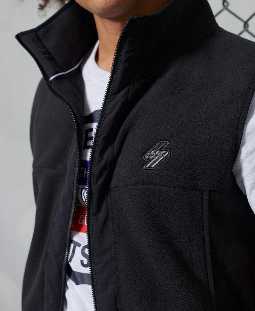 Superdry Zwarte Sportstyle Fleece-bodywarmer